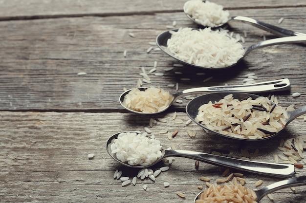 Diverse soorten rijst
