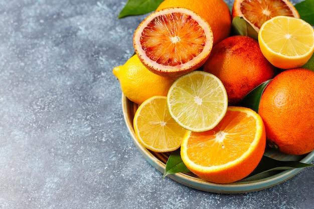 Diverse verse citrusvruchten