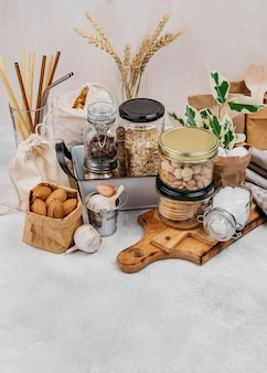 Diverse voedselingrediënten hoge mening