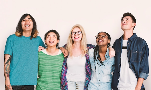 Diversiteit studenten friends happiness concept