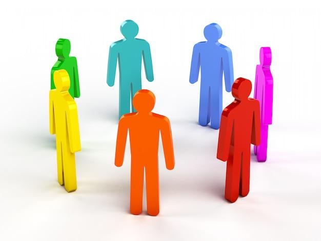 Diversiteit, teamwork, sociaal netwerkconcept