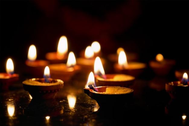 Diwali-lichten, india