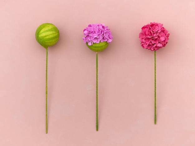 Diy-instructie. bloemen maken van foamiran. ambachtelijke gereedschappen en benodigdheden. stap - resultaat