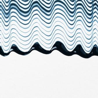 Diy zwaaide getextureerde grensachtergrond in blauwe en witte experimentele abstracte kunst