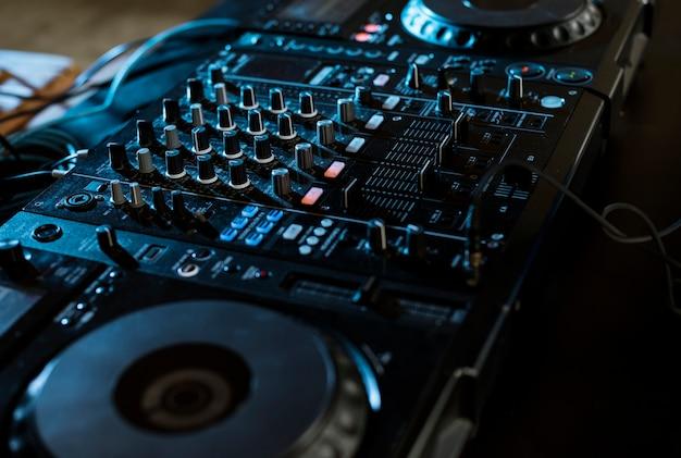 Dj-station voor mixers en entertainment
