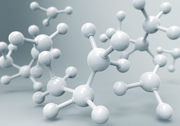 Dna-moleculen of atoom