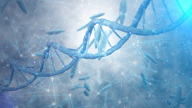 Dna-strengen, genetica code concept