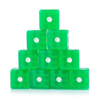 Dobbel groen geïsoleerd op wit