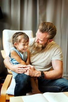 Dochter kid girl leisure vader generatie concept