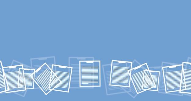 Documenten op de blauwe achtergrond. concept van papierwerk. bedrijf