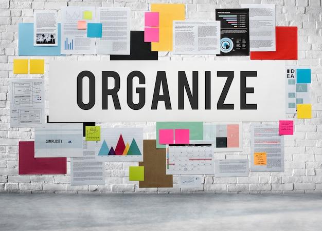 Documenten papierwerk strategie bedrijfsconcept