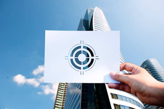 Doelen richten zich op aspiratie geperforeerd papier bullseye