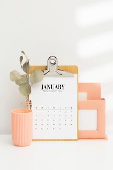 Doelen stellend concept met kalender
