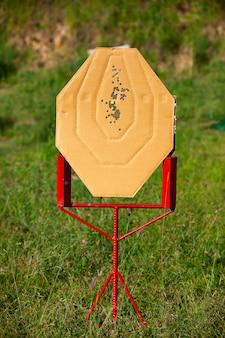 Doelschieten ipsc-wedstrijdpistoolspellen.