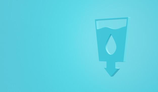 Doelstellingen voor duurzame ontwikkeling schoon water en sanitatie pictogram, 3d-rendering