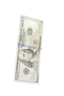 Dollar geïsoleerd op wit
