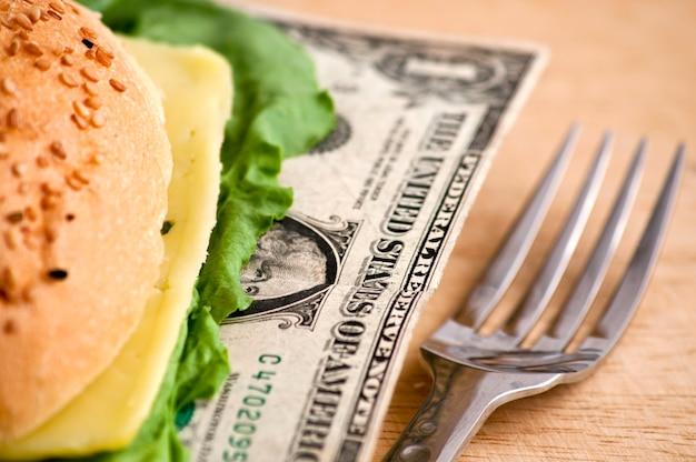 Dollar hamburger
