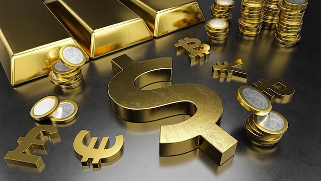 Dollar onderscheidt zich van andere valuta's, roebel wordt sterker. beursachtergrond, bankwezen of financieel concept.