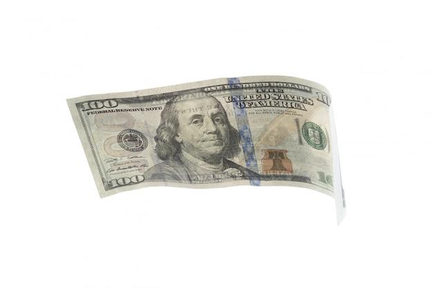 Dollar op wit wordt geïsoleerd dat