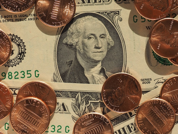 Dollarbiljetten en -munten, verenigde staten
