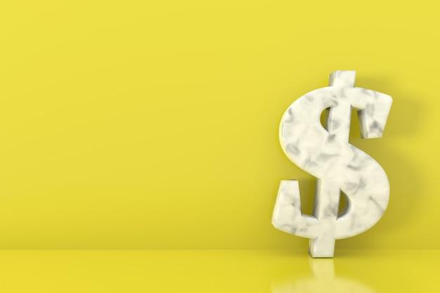 Dollarteken banner ontwerp. 3d-weergave.