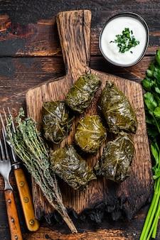 Dolma traditionele kaukasische, turkse en griekse keuken.