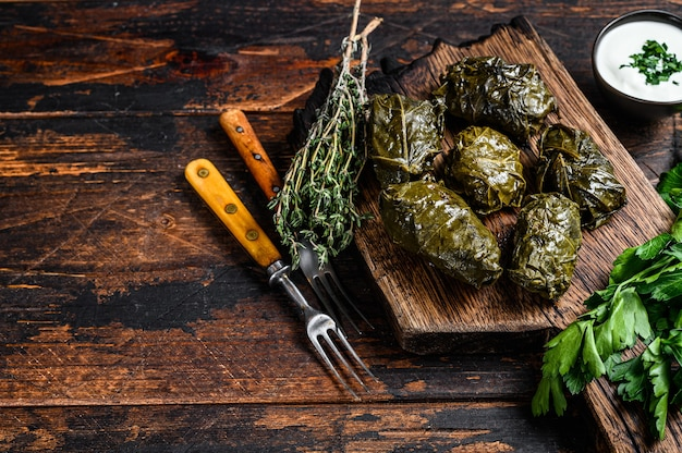 Dolma traditionele kaukasische, turkse en griekse keuken