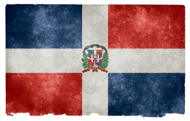 Dominicaanse republiek grunge vlag
