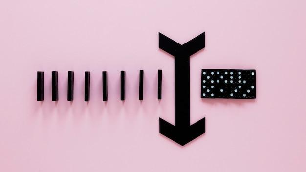 Domino blokken met pijl