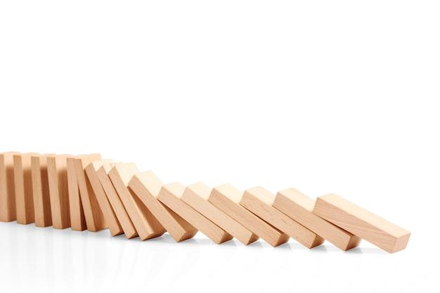 Domino-effect gestopt door een uniek, een sterk stuk
