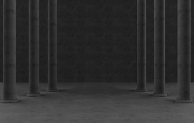 Donker hoge paal rijen muur achtergrond.