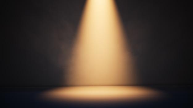 Donker podium met een spotlight