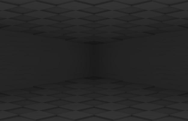 Donker vierkant raster tegel wand vloer kamer muur