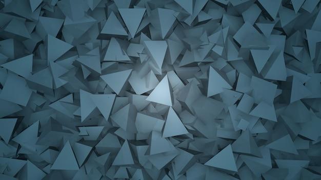 Donkerblauw geometrische driehoeken patroon, abstracte achtergrond. elegante en luxe stijl voor zakelijke en zakelijke sjabloon, 3d-afbeelding