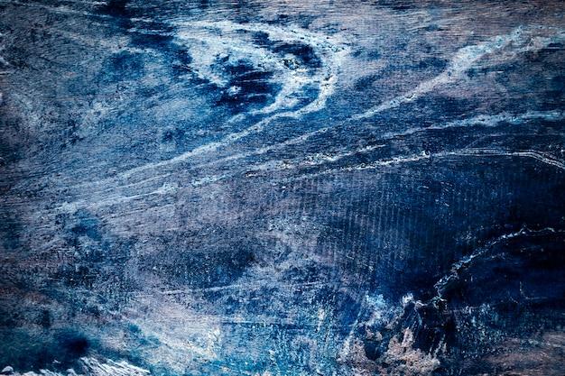 Donkerblauw houtstructuurbehang