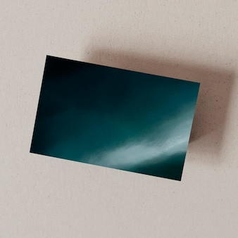Donkerblauw oceaanvisitekaartje met ontwerpruimte