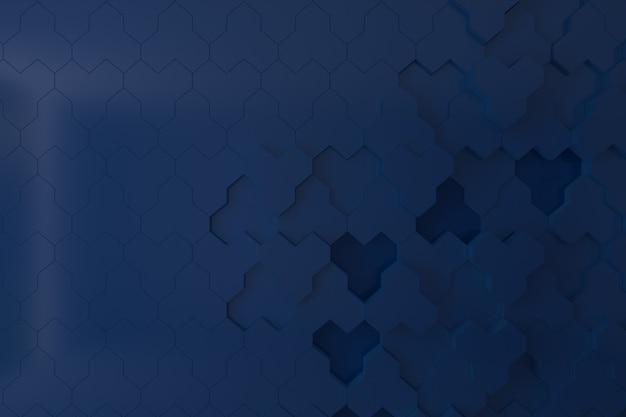Donkerblauwe 3d muur voor achtergrond, achtergrond of behang