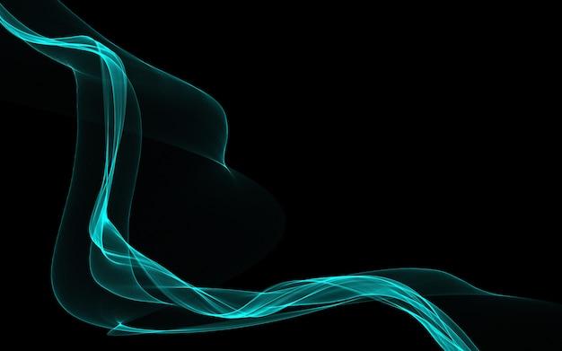 Donkere abstracte achtergrond met gloeiende abstracte golven