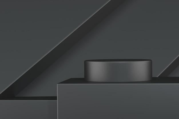 Donkere achtergrond met geometrische vorm voor productstandaard