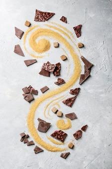 Donkere chocolade met bruine suiker