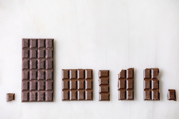 Donkere chocolade met cacao