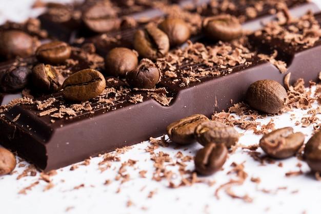 Donkere chocolade met koffie