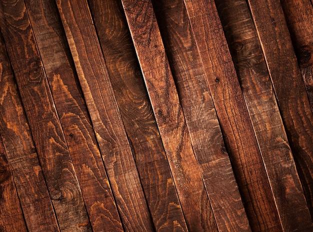 Donkere houten bruine planken, textuur of achtergrond