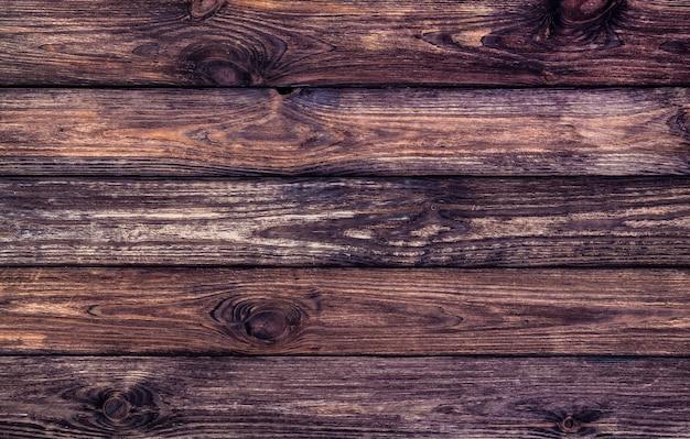 Donkere houten textuur, oud gekrast hout