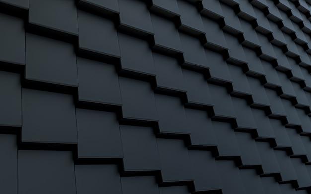 Donkere luxe vierkante vorm abstracte achtergrond 3d-rendering