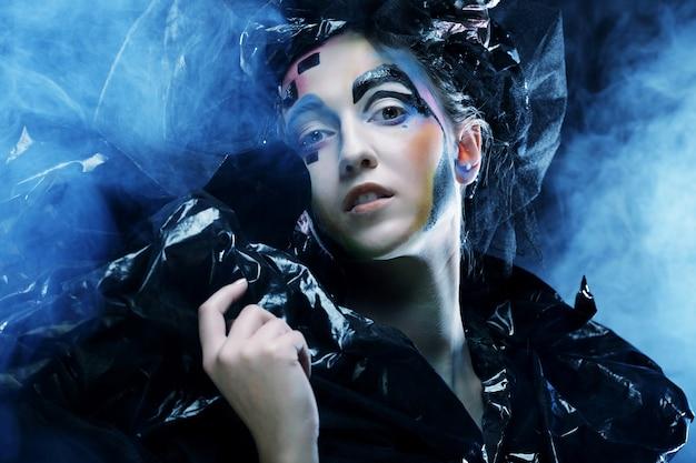 Donkere mooie gotische prinses