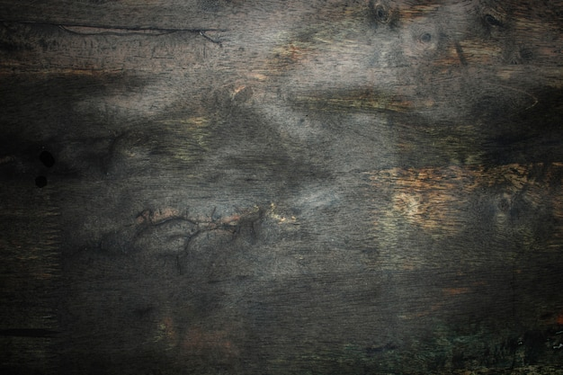 Donkere oude hout en grunge textuurmuurachtergrond
