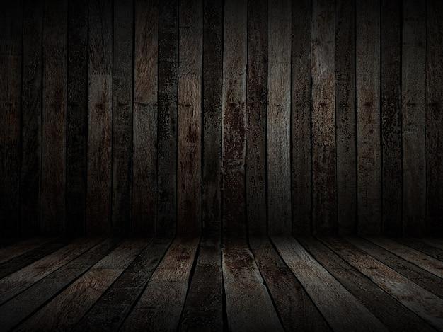 Donkere oude houten achtergrond met knopen