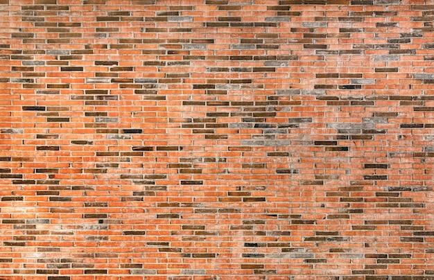 Donkere rode oude bakstenen muur textuur voor achtergrond
