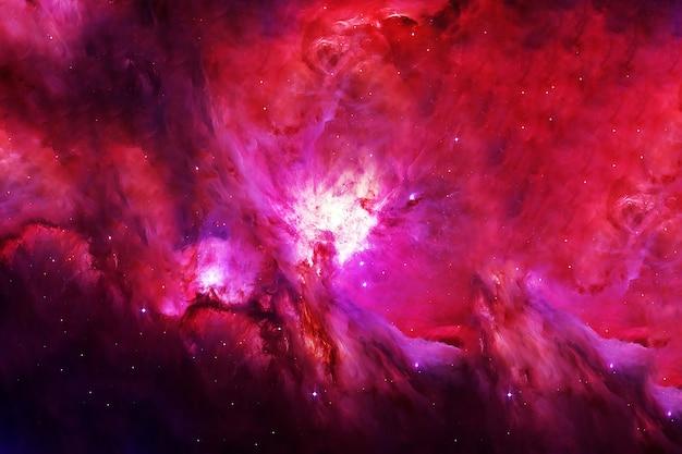 Donkere ruimte in roodtinten. elementen van deze afbeelding zijn geleverd door nasa. hoge kwaliteit foto